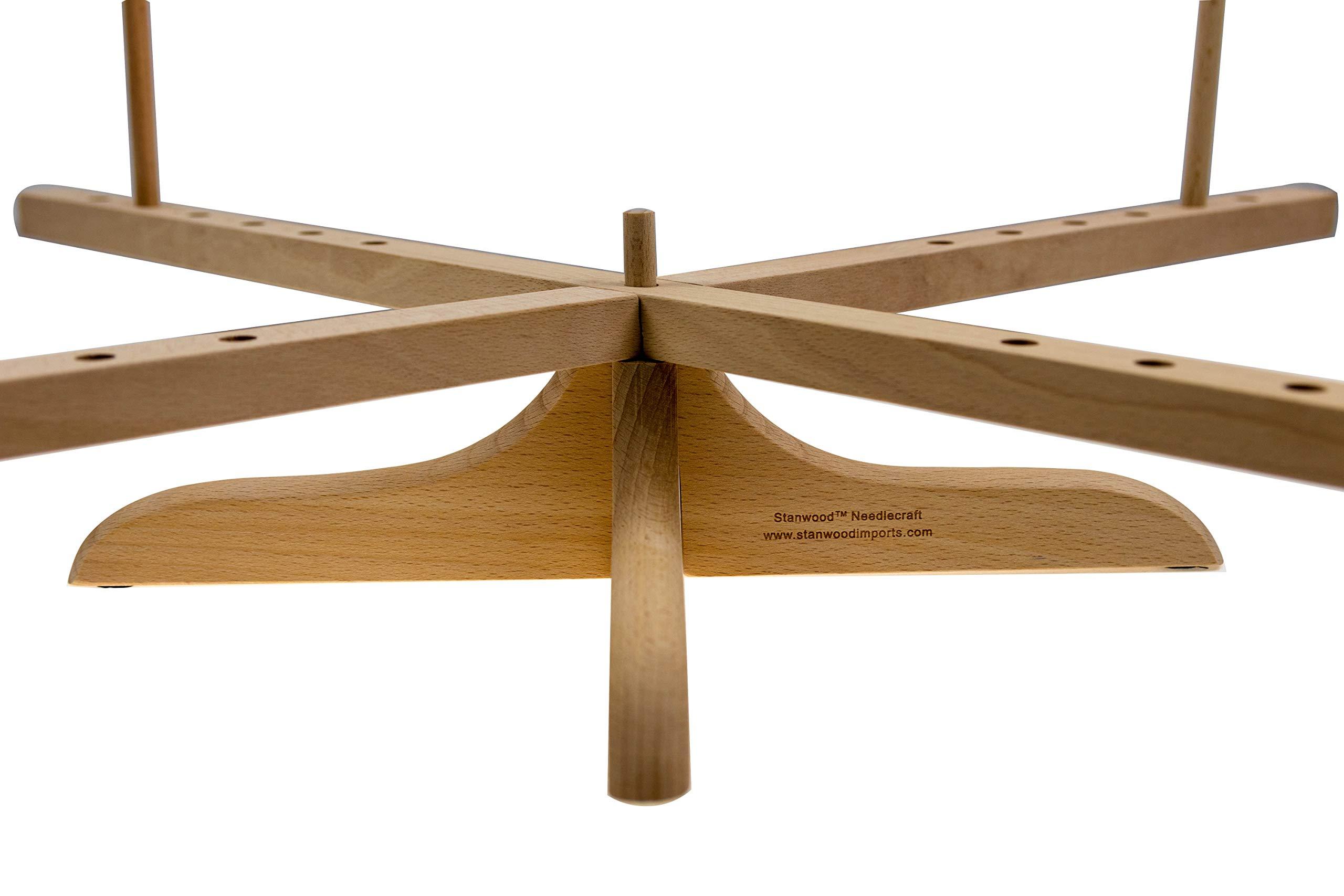 Stanwood Needlecraft Tabletop Amish Style Wooden Yarn Swift, 2.5-6-Feet (YW-3) by Stanwood Needlecraft (Image #4)