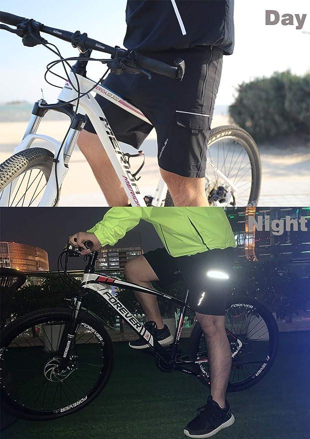 Nomolen Mens Mountain Bike Shorts 3D Padded Lightweight Waterproof MTB Cycling Shorts Loose-Fit Bike Shorts