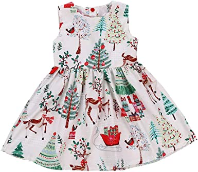 Baby Girls 3 piece Christmas Winter Themed Dress Knickers Headband Set Outfit