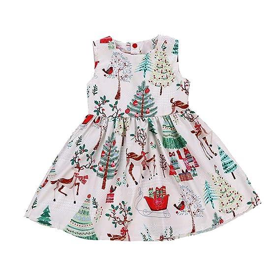 Vestido de Fiesta Navidad Regalo para Bebé Niñas Sin Mangas Otoño 2018 Moda PAOLIAN Ropa para