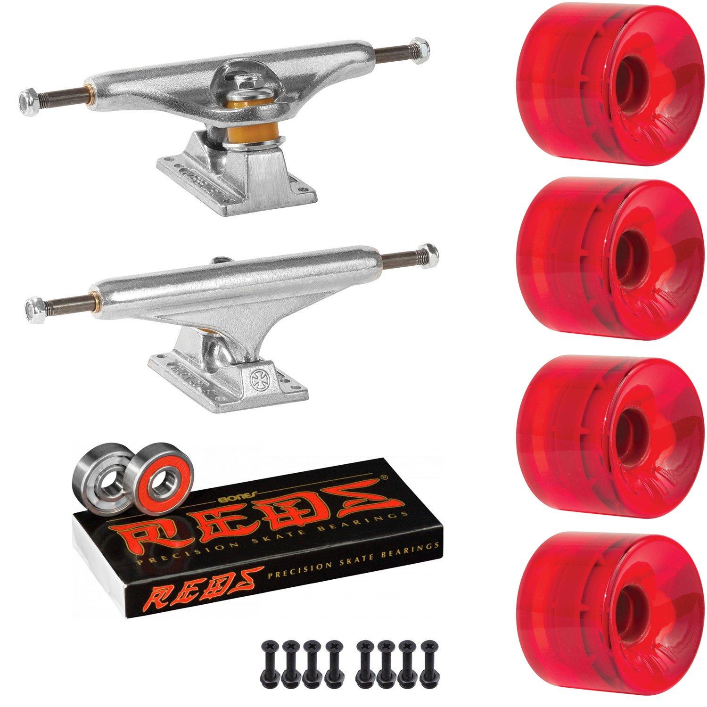 スケートボードキットIndpendent 149 Trucks OJ Hot Juice 60 mm 78 a Wheels Trans Red Reds   B07D3CVVBG