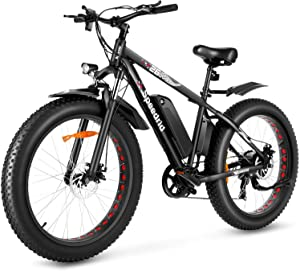 "Speedrid Electric Bike Fat Tire Ebike 26"" 4.0, 500W Powerful Motor, 48V 10Ah Removable Battery and Professional 7 Speed"