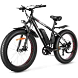 "Speedrid Electric Bike 48V 500W Fat Tire Electric Bike Snow Bike 26"" 4.0, 48V 10Ah Removable Battery and Professional 7…"