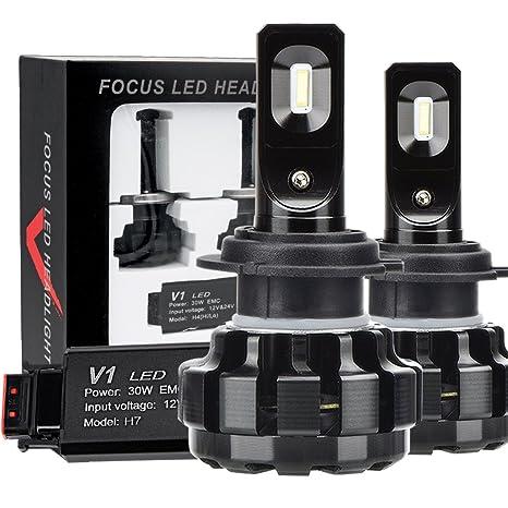 Bombillas LED para faros Kit de conversión todo en uno para auto luz - H7 -