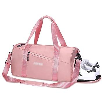 Amazon.com: Bolsa de gimnasio para mujer con bolsillo mojado ...