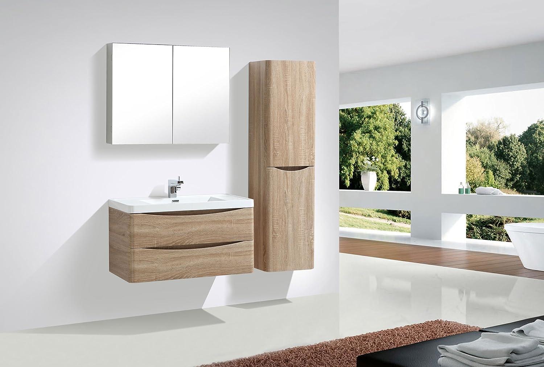 Anthracite Glass Basin Bathroom Storage 900mm Vanity Unit The Bath People Eaton Floor Standing Vanity Unit Light Ash