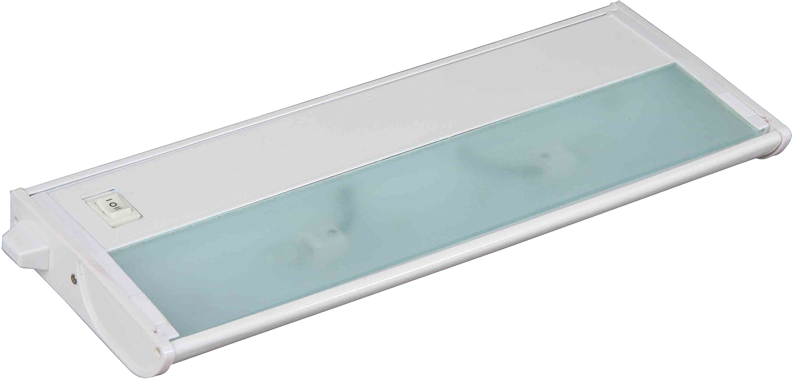 Maxim 87841WT CounterMax MX-X120c 13'' 2-Light 120V Xenon, White Finish, Glass, G8 Xenon Xenon Bulb , 40W Max., Damp Safety Rating, 2900K Color Temp, Standard Dimmable, Glass Shade Material, 800 Rated Lumens