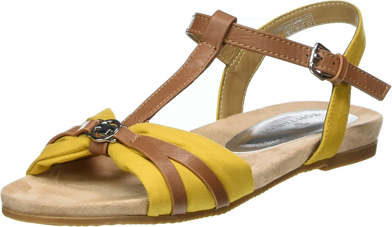 TOM TAILOR Women's Some reservation 8092209 Ankle Sandals Yellow Strap 00 Under blast sales