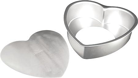 Fat Daddio s Anodized Aluminum Heart Cake Pan, 6 Inch x 3 Inch
