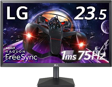 LG ゲーミング モニター ディスプレイ 24MK400H-B 23.5インチ/フルHD/TN非光沢/1ms(GtoG)/75Hz/FreeSync/HDMI,D-Sub/フリッカーセーフ,ブルーライト低減