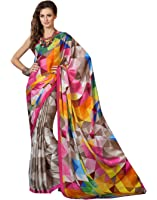 Shivalika Tex Women's Crepe Silk Saree With Blouse Piece (Seymore_Checks,Multicolor,Free Size)