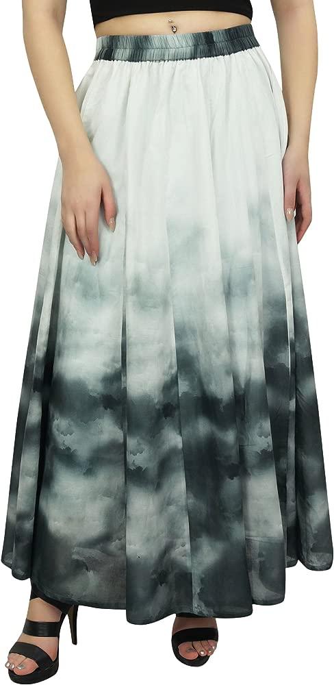 Bimba Falda Estampada de Algodon para Mujer, Cintura Elastica ...