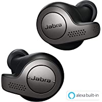 Jabra True Wireless Bluetooth Headphones Earphones Earbuds with Charging Case & One-Touch Amazon Alexa, Titanium Black, (Elite 65t)