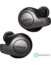 Jabra Elite 65t True Wireless Earbuds Bluetooth in-Ear Headphones with Earphones Charging Case & One-Touch Amazon Alexa & 15 Hours Battery, Titanium Black