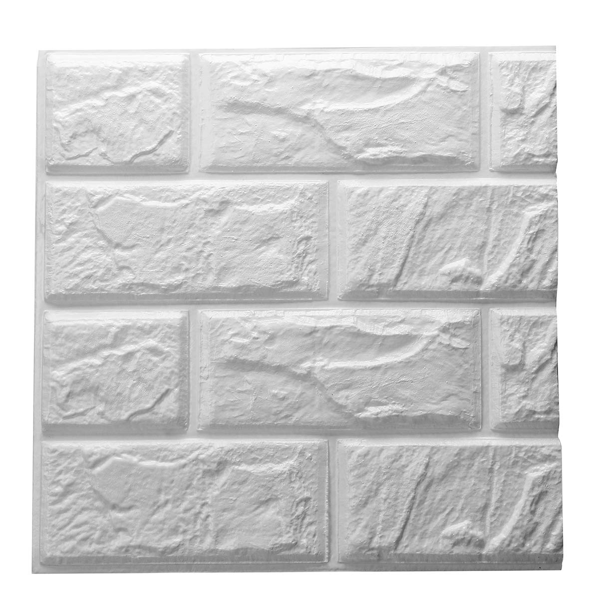 PE Foam 3D Self Adhesive DIY Panels Wall Stickers Home Decor Embossed Brick New