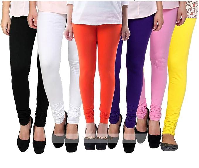 938001d73c3a0 Designer Leggings Set for Women's/Girls by Pixie in Combo (Pack of 6 ...
