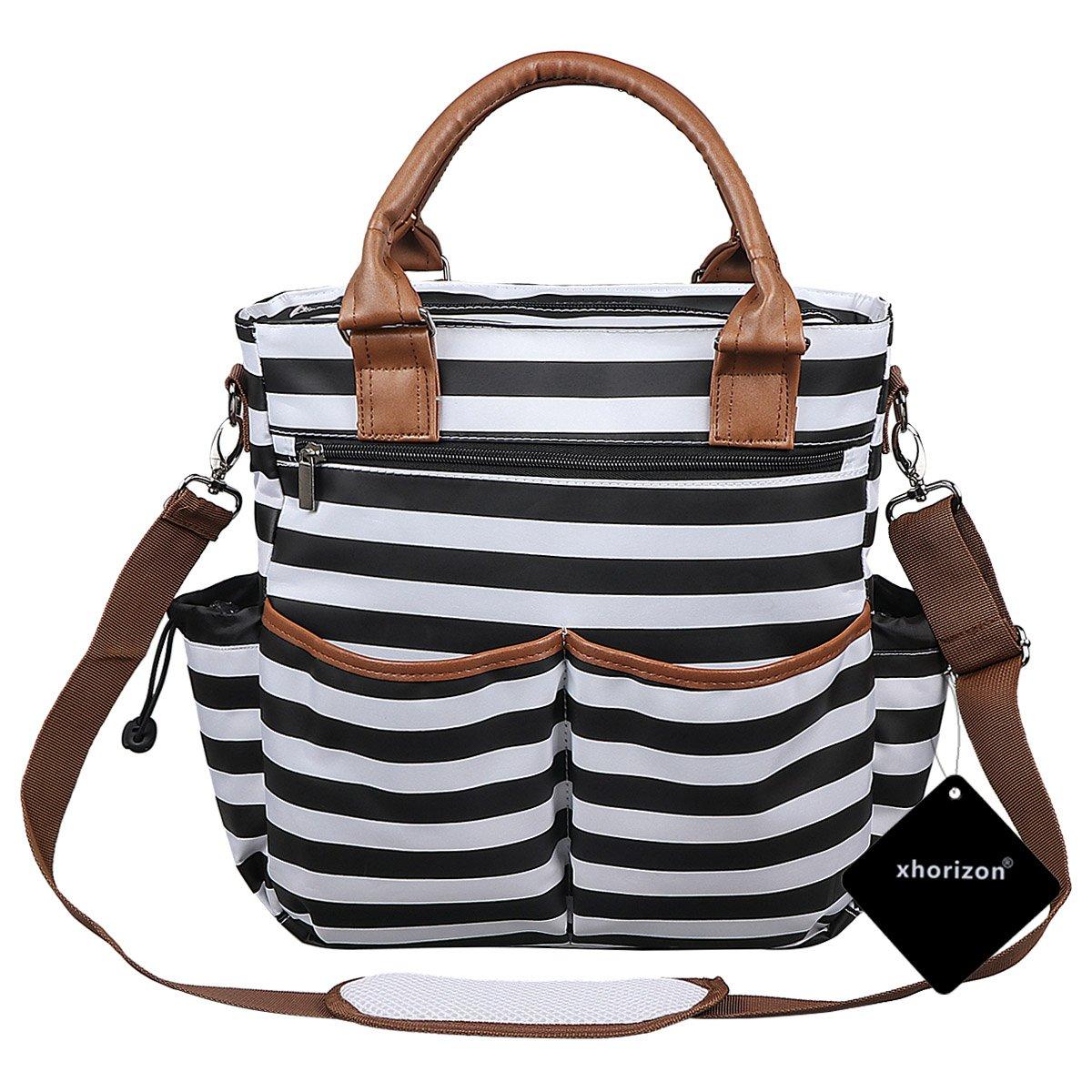 Diaper Bag, xhorizon TM SR Baby Changing Pad Baby Cushioned Changing Mat, Messenger Organizer Tote, Multifunction Large Capacity Hand Bag Shoulder Bag