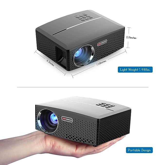 ViviBright GP80 Portable Projector 1800 Lumen 40/135 Inch ...