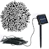 Vlio 8Modes Led Solar Power Fairy String Lights Outdoor Decorative Light 50 100 200 LEDs Waterproof IP44 with Light for Garden Home Wedding Party Christmas Halloween