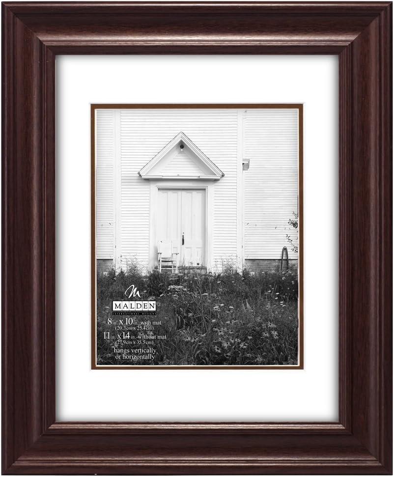Malden International Designs Textured Mat Picture Frame 8x10//16x20 Walnut