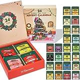 VAHDAM, Advent Calendar 2021 | Christmas Tea Advent Calendar Gift | 24 Varieties of Organic Tea Bags in a Holiday Gift Box| 1