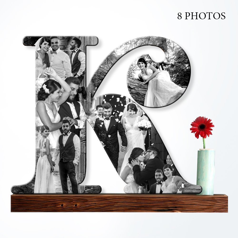Amazon.com: Custom Photo Collage, Wooden Letter Photo, Personalized ...