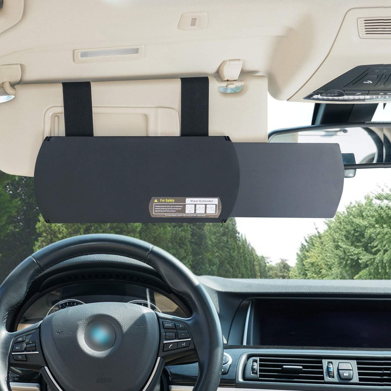 WANPOOL Car Visor Sunshade Black Car Visor Anti-Glare Sunshade Extender for Front Seat Driver or Passenger