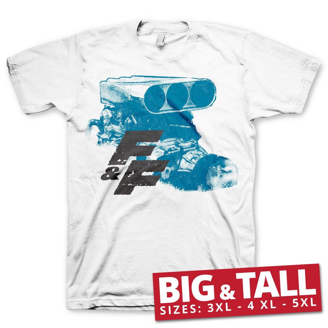 Oficialmente Licenciado Fast & Furious Engine 3XL, 4XL, 5XL Hombre Camiseta (Blanco), 3X-Large: Amazon.es: Ropa y accesorios