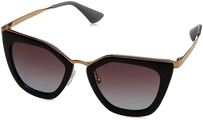 Prada 0PR53SS 1AB2A0 52 Gafas de sol, Negro (Black ...