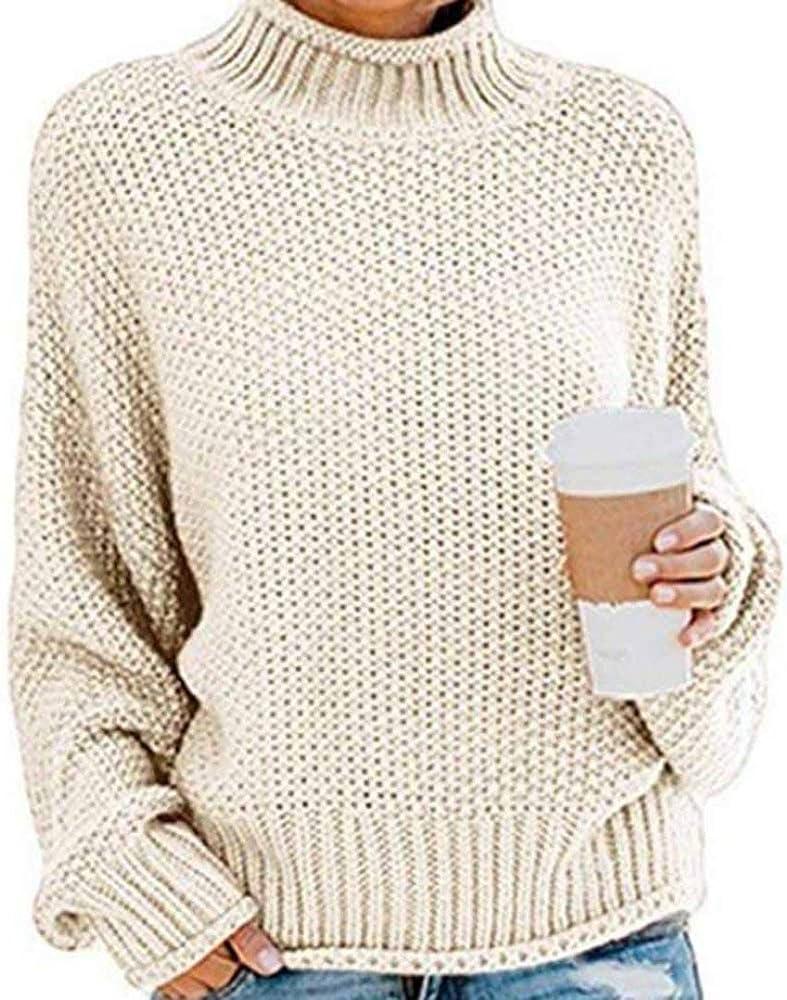 Suéteres de Cuello Alto para Mujer Suéteres Otoño Invierno ...