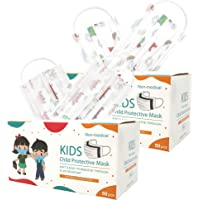 100 PC Kids Disposable Protective Safety Face Masks I 3-ply Soft & Easy to Breathe Face Mask (100PC AIRPLANE & CAR SET)