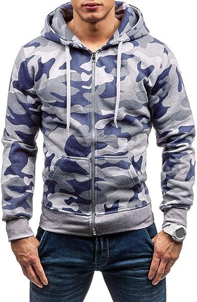 Sudadera con Capucha de Camuflaje de Manga Larga para Hombres Camisetas Estampadas para Hombres Camisa Militar Hombre Originales Ropa Deportiva ❤️ Modaworld: Amazon.es: Ropa y accesorios