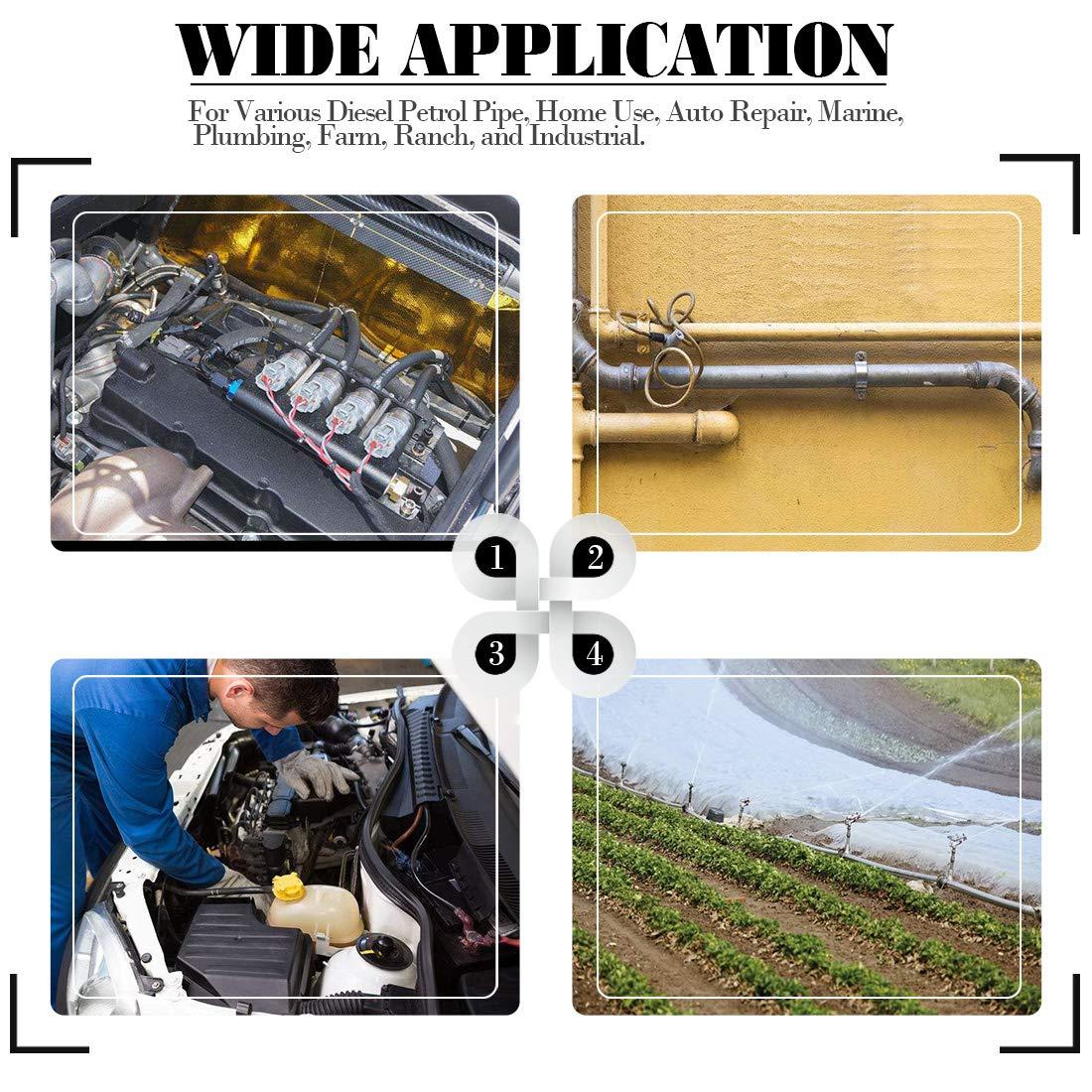 Manguera de Inyección de Combustible 8mm coche NBR Tubo de reparación del motor de gasolina de combustible diesel