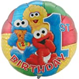 Sesame Street 1st Birthday 18 Foil Balloon Baby Characters First Party
