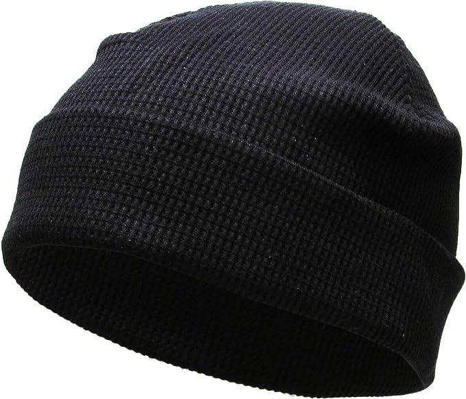 8d875eb0d24 KBH-08 BLK Thermal Cotton Beanie Skull Cap Winter Ski Hat Cuffed Solid Warm