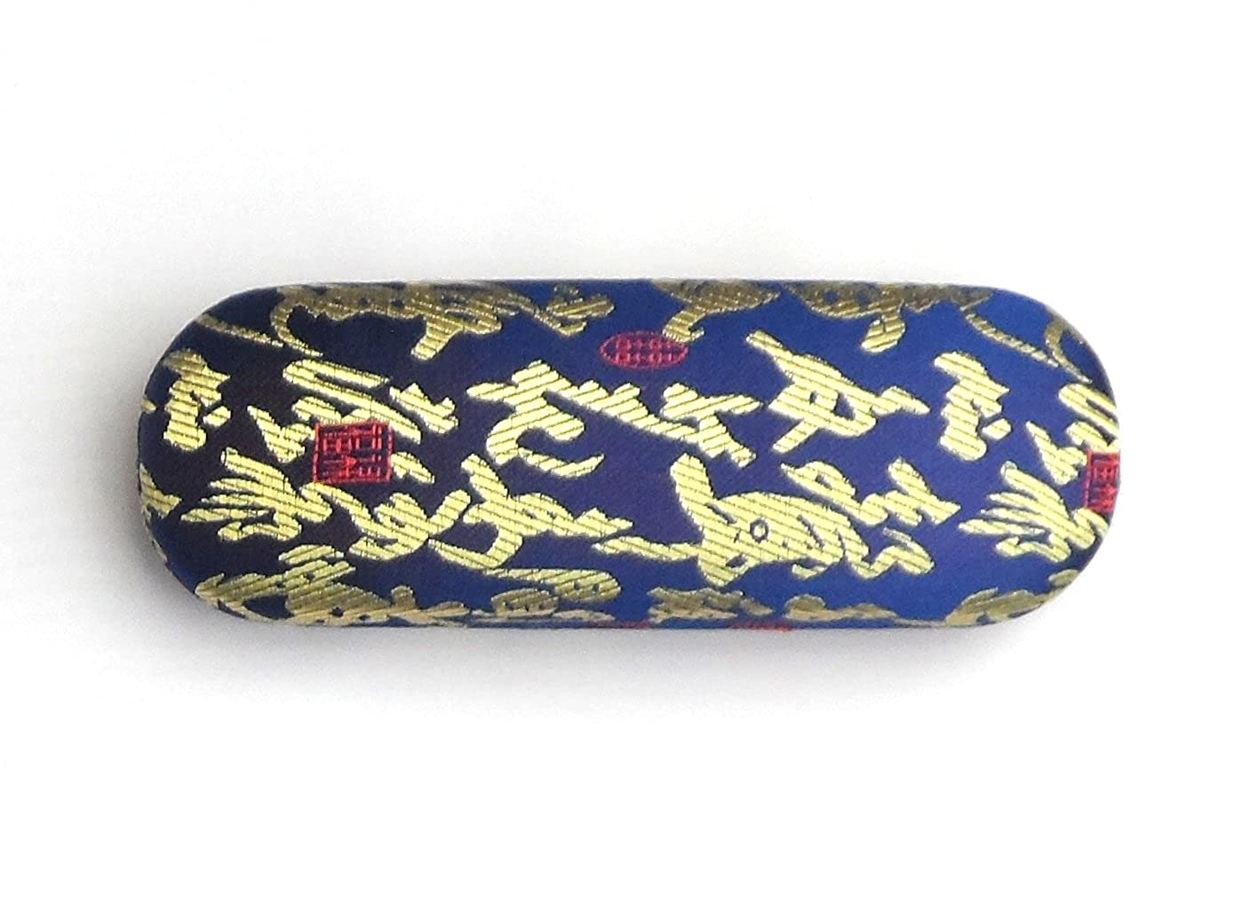 4d76df4b5e Homestreet Glasses Spectacle Case in Silk Brocade (3NAVY)  Amazon.co.uk   Shoes   Bags