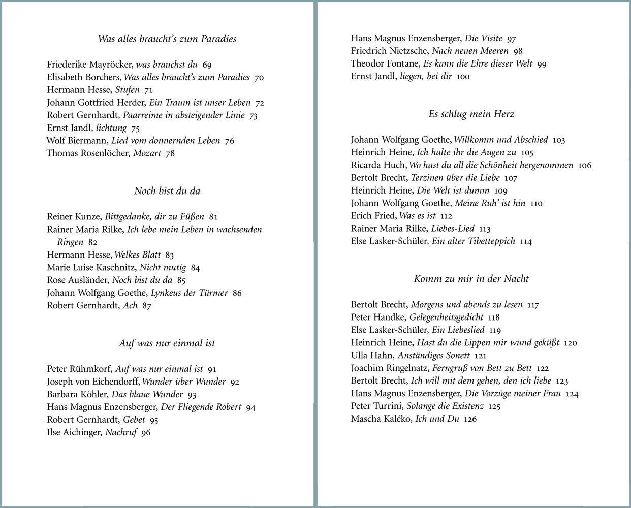 Gedichte Die Glücklich Machen Insel Taschenbuch Amazonde