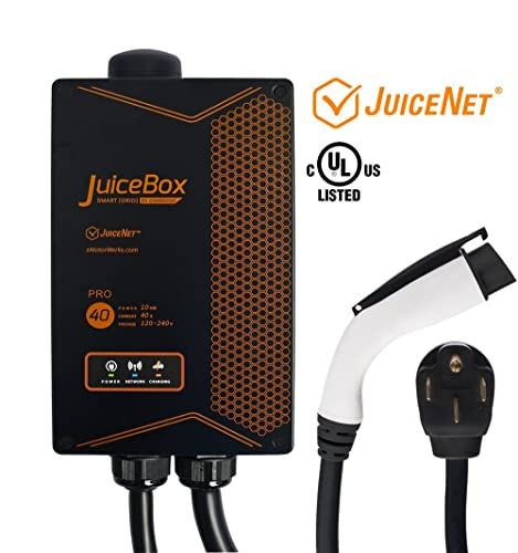 JuiceBox Pro 40 with JuiceNet: WiFi-equipped 40 Amp UL Listed Electric Vehicle Charging Station (EVSE) with 24-foot cable and NEMA 14-50 plug