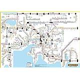 「都市部路線図2」 名古屋(東海) 【ふりがな付き路線図】 B2サイズポスター 子供~ビジネスまで 全路線全駅掲載 【路線図屋