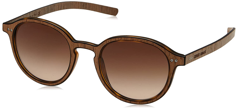 0d742f69ee9 Amazon.com  Giorgio Armani AR8081 Matte Black Wood Wenge  Sunglasses   Clothing