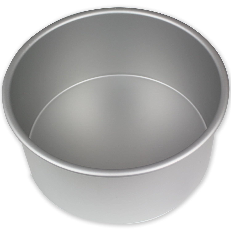 PME RND084 Professional Aluminum Round Cake Pan, 8 x 4, Silver 8 x 4 Knightsbridge Global Ltd.
