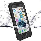 """Coque iPhone 7, ZVE iPhone 7 4.7"""" Housse Etui Etanche IP68 Anti-choc, Antipoussière Neige Anti Pluie Antichoc Boitier Splash-proof Sac Couvercle Sport Pare-chocs avec Protection d'Ecran, Case pour Apple iPhone 7 4.7"""" (iPhone 7 Noir)"""