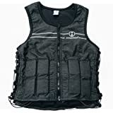 Hyperwear Hyper Vest FIT Adjustable Weighted Vest Women 5 lb or 8 lbs Running Walking Workouts Metallic Black Reflective Thin 1/2 lb Weights Designed Comfortable Female Fit