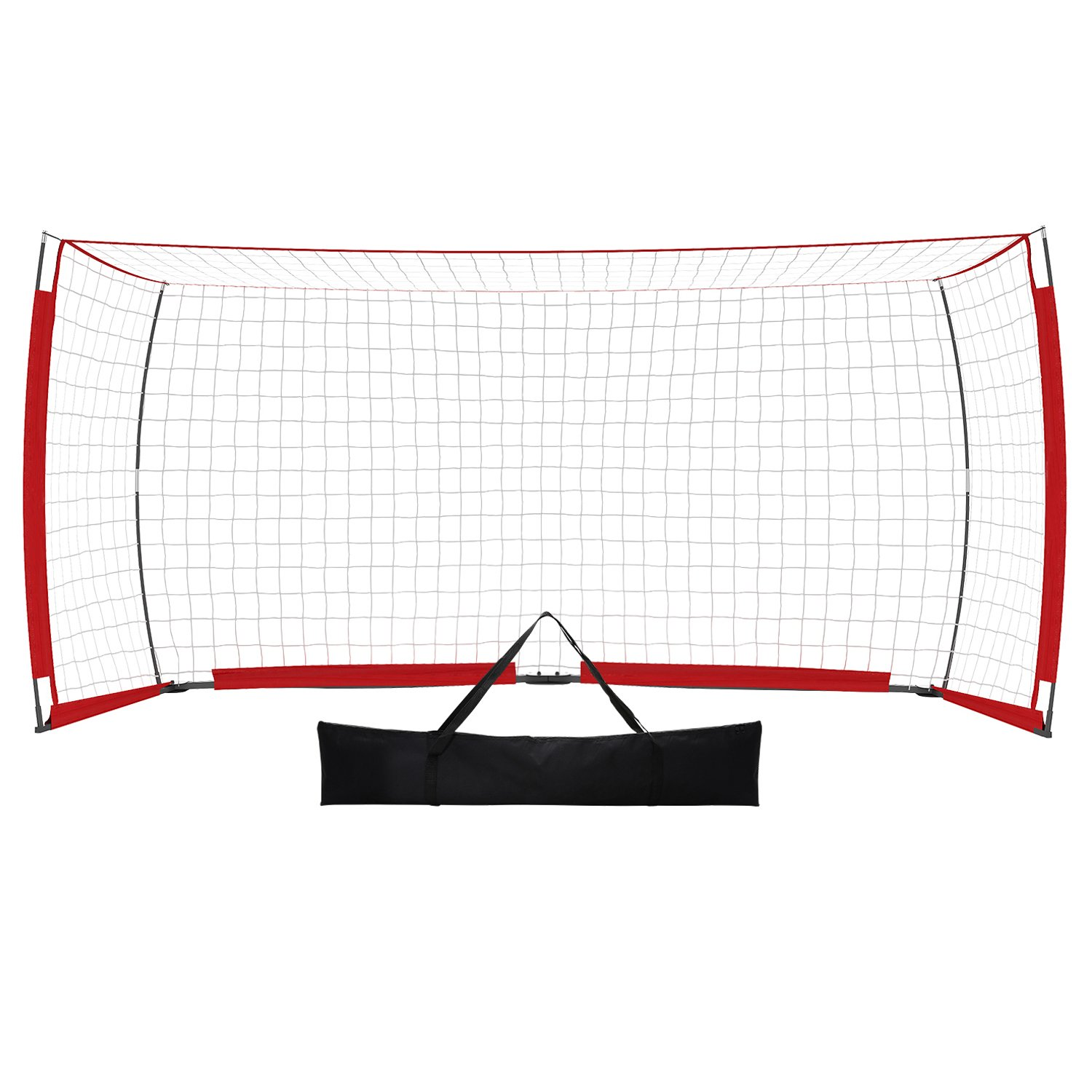 rateim Soccer Goal Net 12 x 6 ft、ポータブルと折りたたみ式蝶スタイルNet Perfect for Soccer裏庭with Carry Bag ( US Stock ) B07C1RQQ3F Soccer Goal 12x6ft-Red Soccer Goal 12x6ft-Red