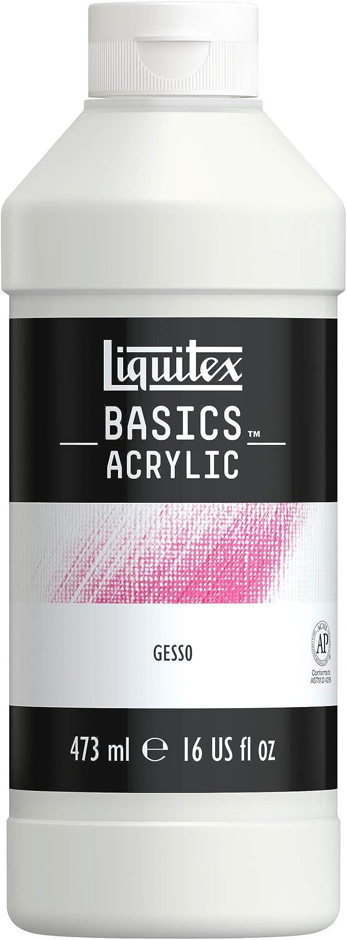 Amazon.com: Liquitex BASICS Gesso Surface Prep Medium Tube, 16oz