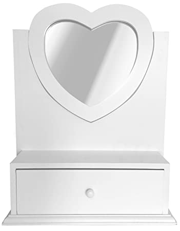 Sylvester Oxford Ltd Heart Shaped Dressing Table Mirror With Drawer