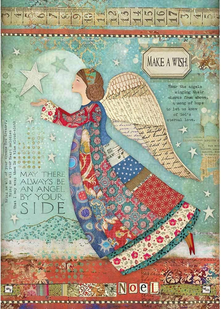 KFT Rice Paper Pack A4 Make a Wish Angel us:one size STAMPERIA INTERNATIONAL