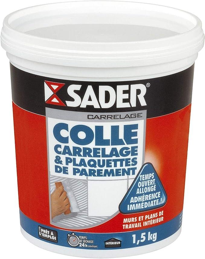 Sader Colle Carrelage Et Plaquettes De Parement Pot 1 5 Kg Amazon Fr Bricolage
