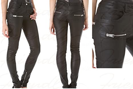 Leather pants for women girls teens genuine leather pants hot design pants  durable quality leather dress (Large): Amazon.ca: Beauty