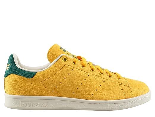 best website fab22 89207 Adidas Originals STAN SMITH Chaussures Mode Sneakers Unisex Cuir Suede Jaune   Amazon.fr  Vêtements et accessoires